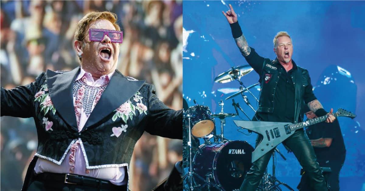 """""""Acabei de fazer algo com o Metallica"""", diz Elton John"""