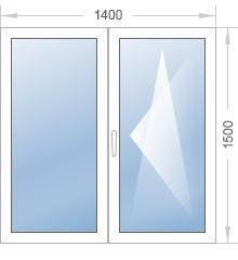 Двухстворчатые окна Rehau