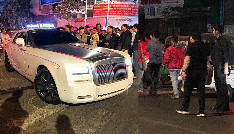 Rolls-Royce ឧកញ៉ា ឌួង ឆាយ ត្រូវ CAMRY HYBRID បុក យប់មិញ
