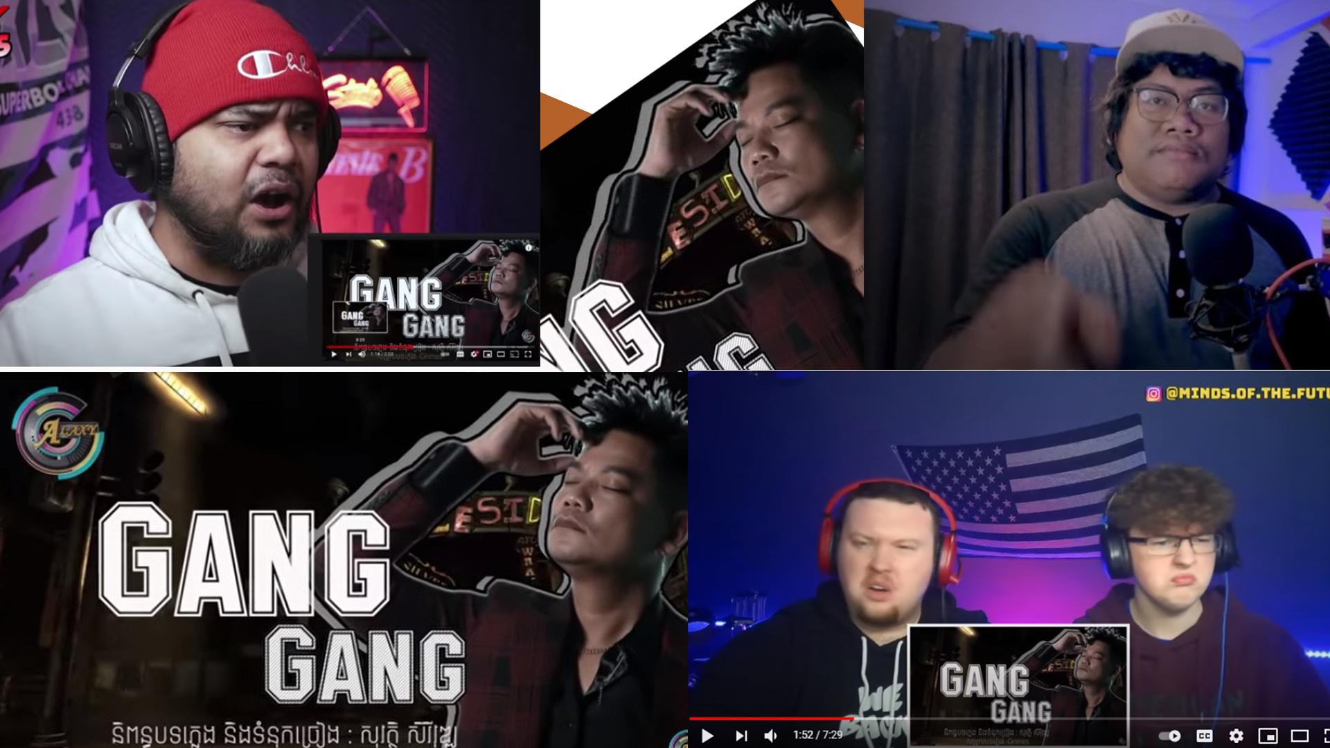 """បទ""""Gang Gang""""ព្រាប សុវត្ថិ  ត្រូវបានក្រុមDJ បរទេសយកទៅធ្វើវីដេអូ Reaction កក្រើកពេញyoutube"""