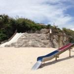 磯遊びやバーベキューも楽しめる「渡具知ビーチ」と「泊城公園」。