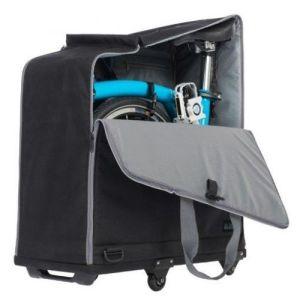 bolsa de viaje brompton acolchada con 4 ruedas