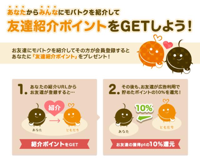 モバトク 友達紹介の詳細