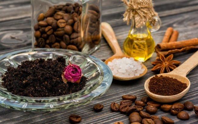 Скраб из заваренного кофе. Как сделать кофейный скраб для тела: spa в  домашних условиях. Маска из соли и кофе от целлюлита