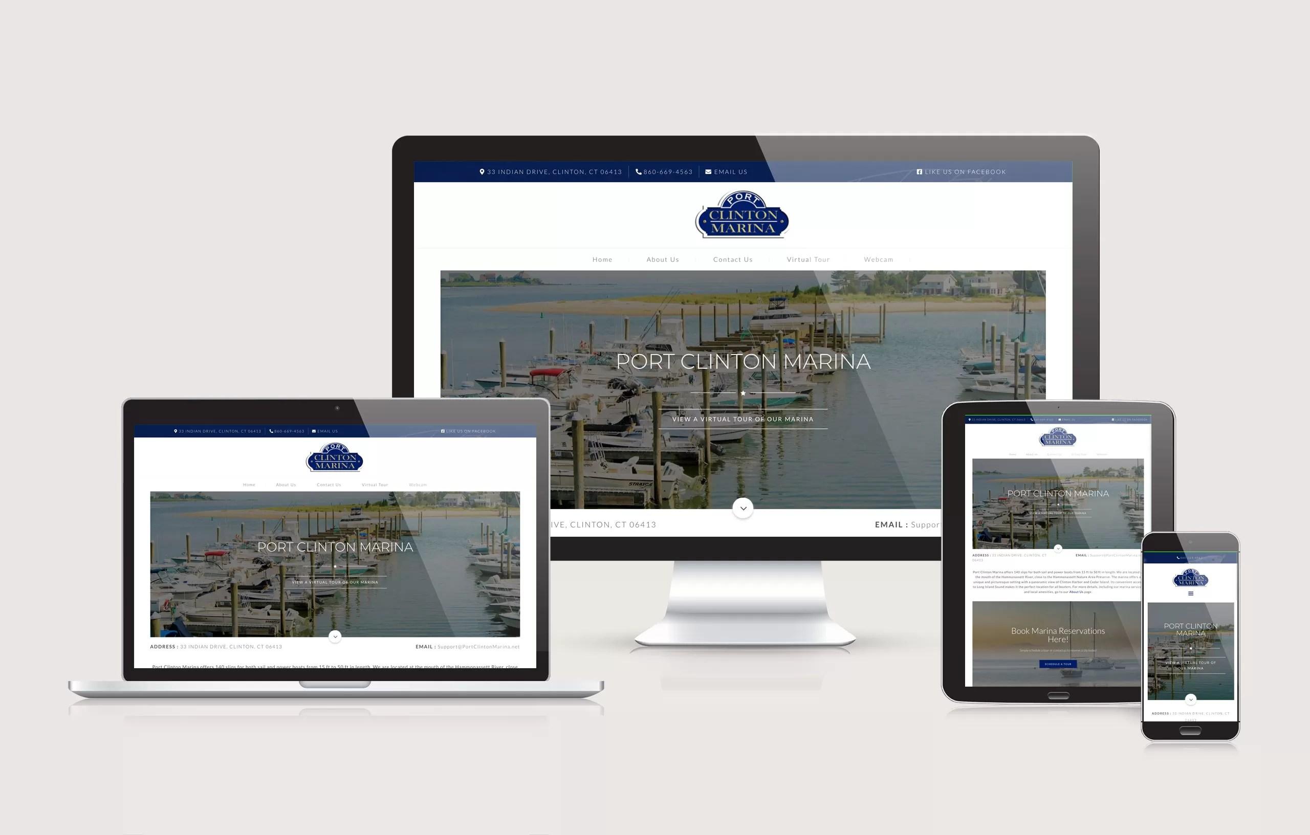 Port Clinton Marina - Website Layout Design by Ok Omni