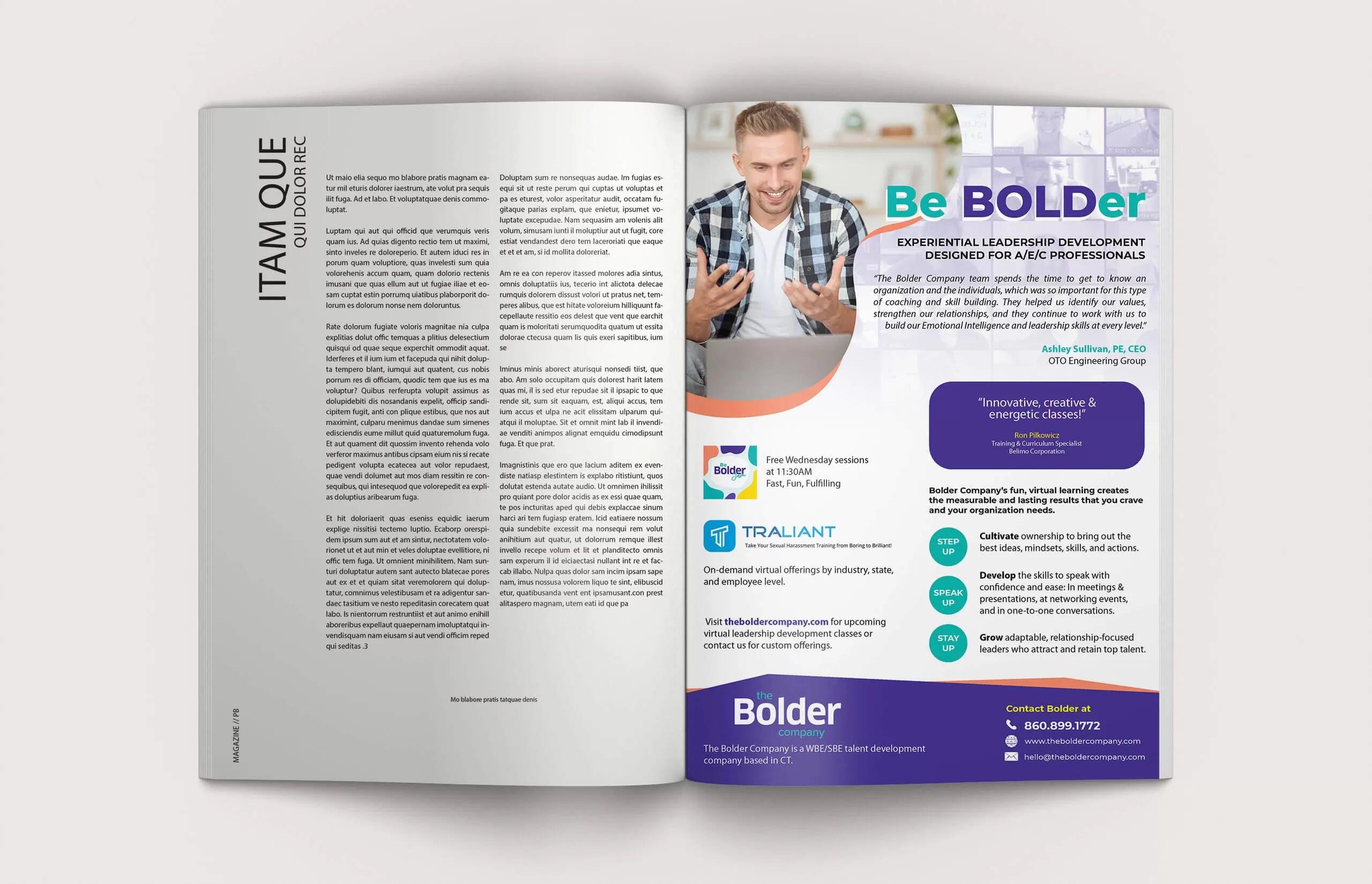 The Bolder Company - Magazine Ad Layout