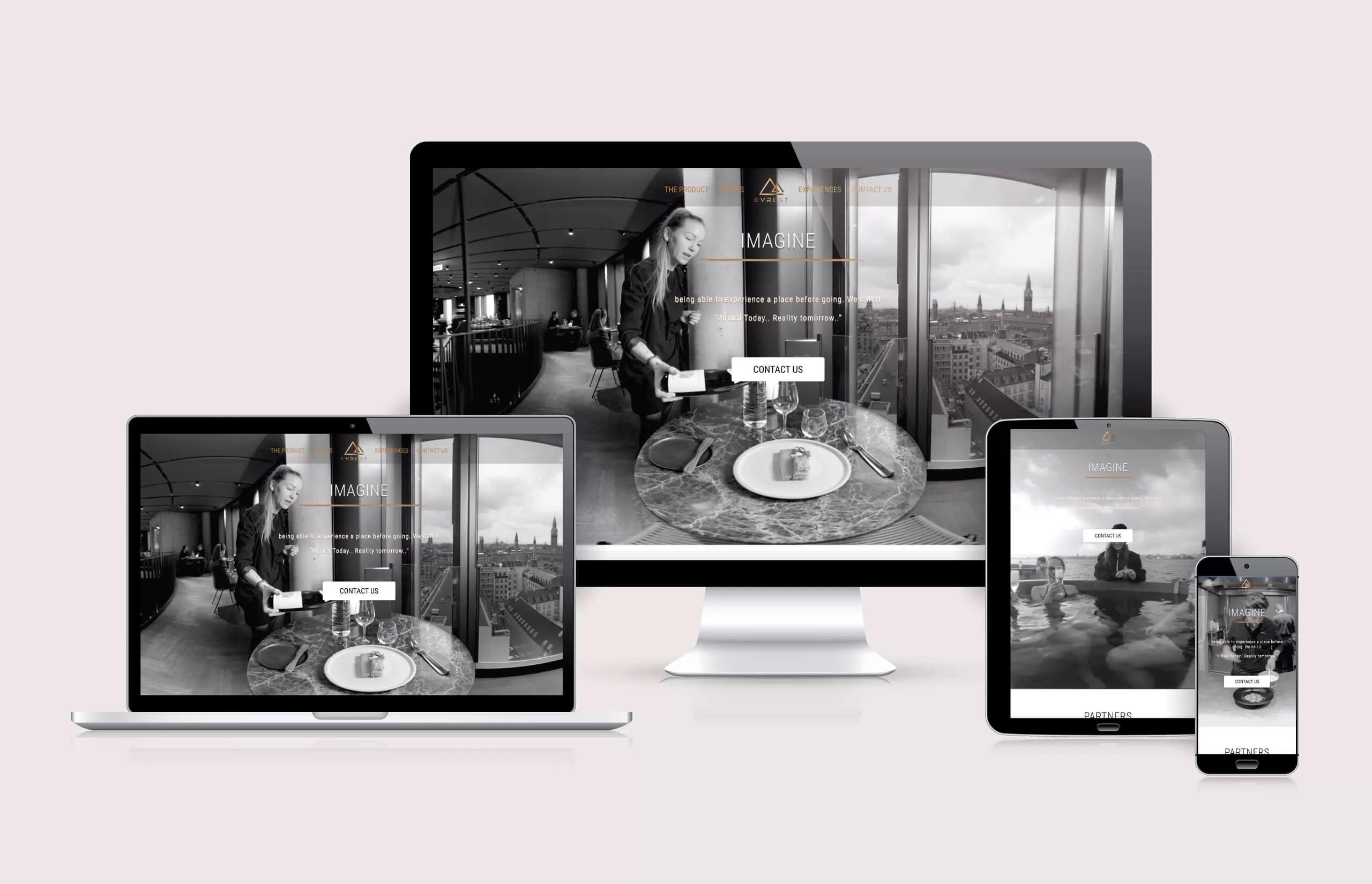 eVrest - Website Layout by Ok Omni
