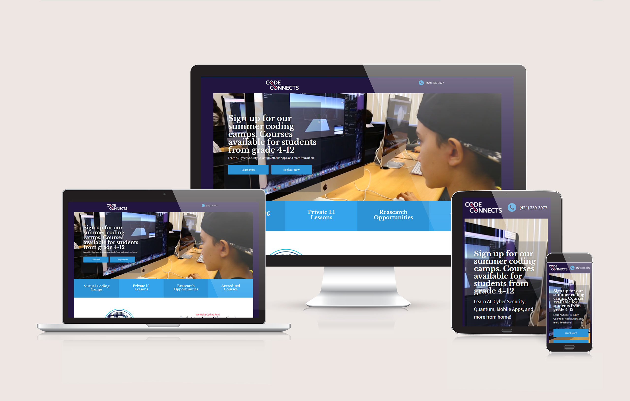 CodeConnects - Responsive Website Design 02 by Ok Omni