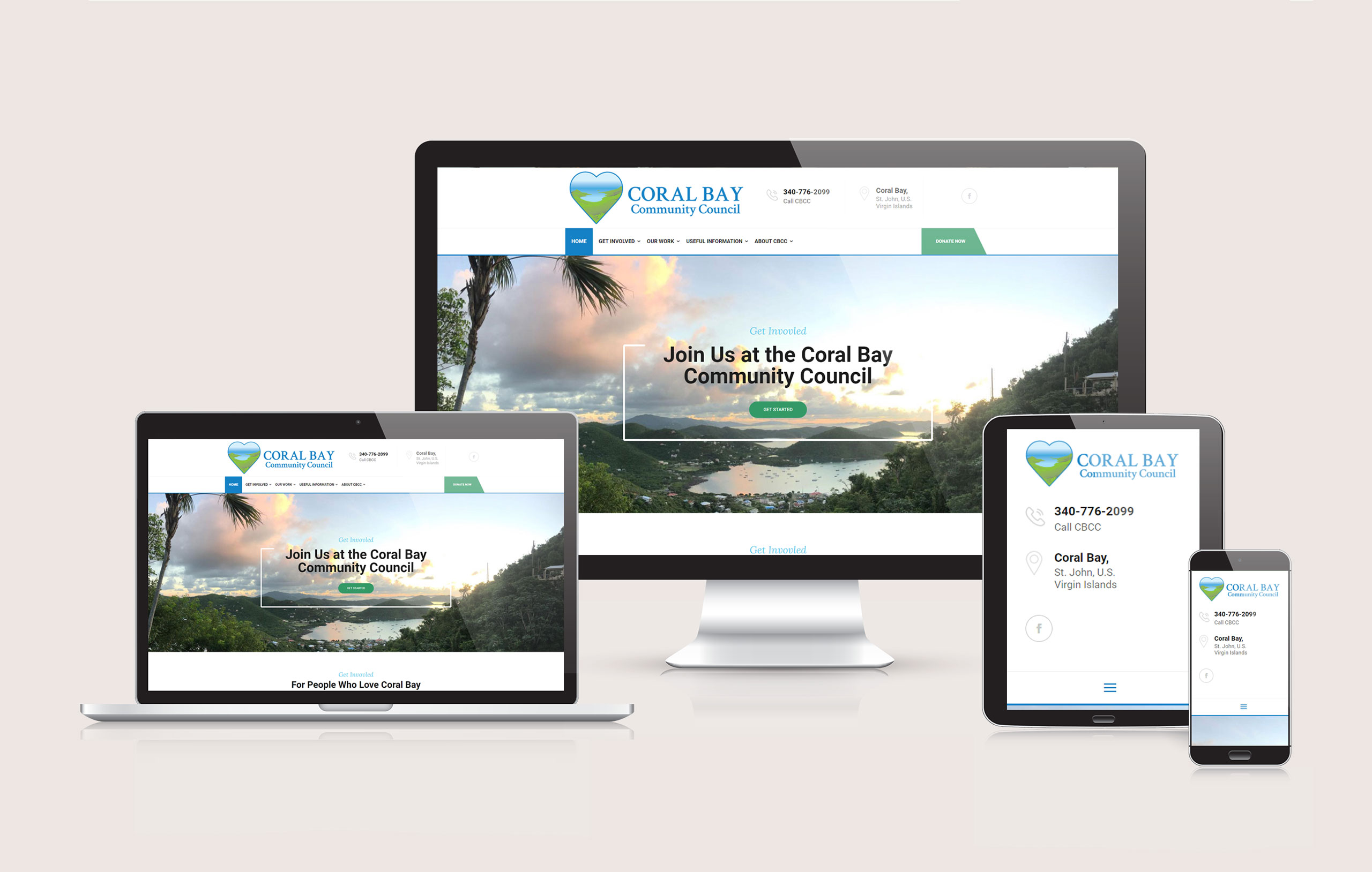 Coral Bay Community Council - Responsive Website Design by Ok Omni