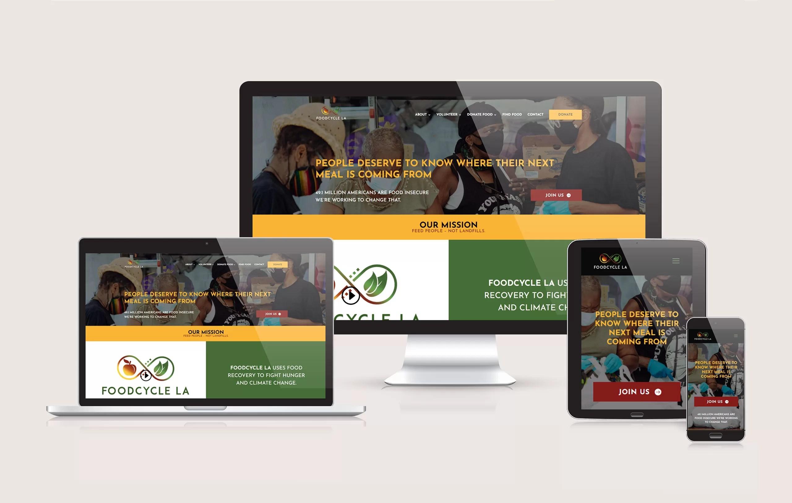 FoodCycle La - Responsive Website Design by Ok Omni