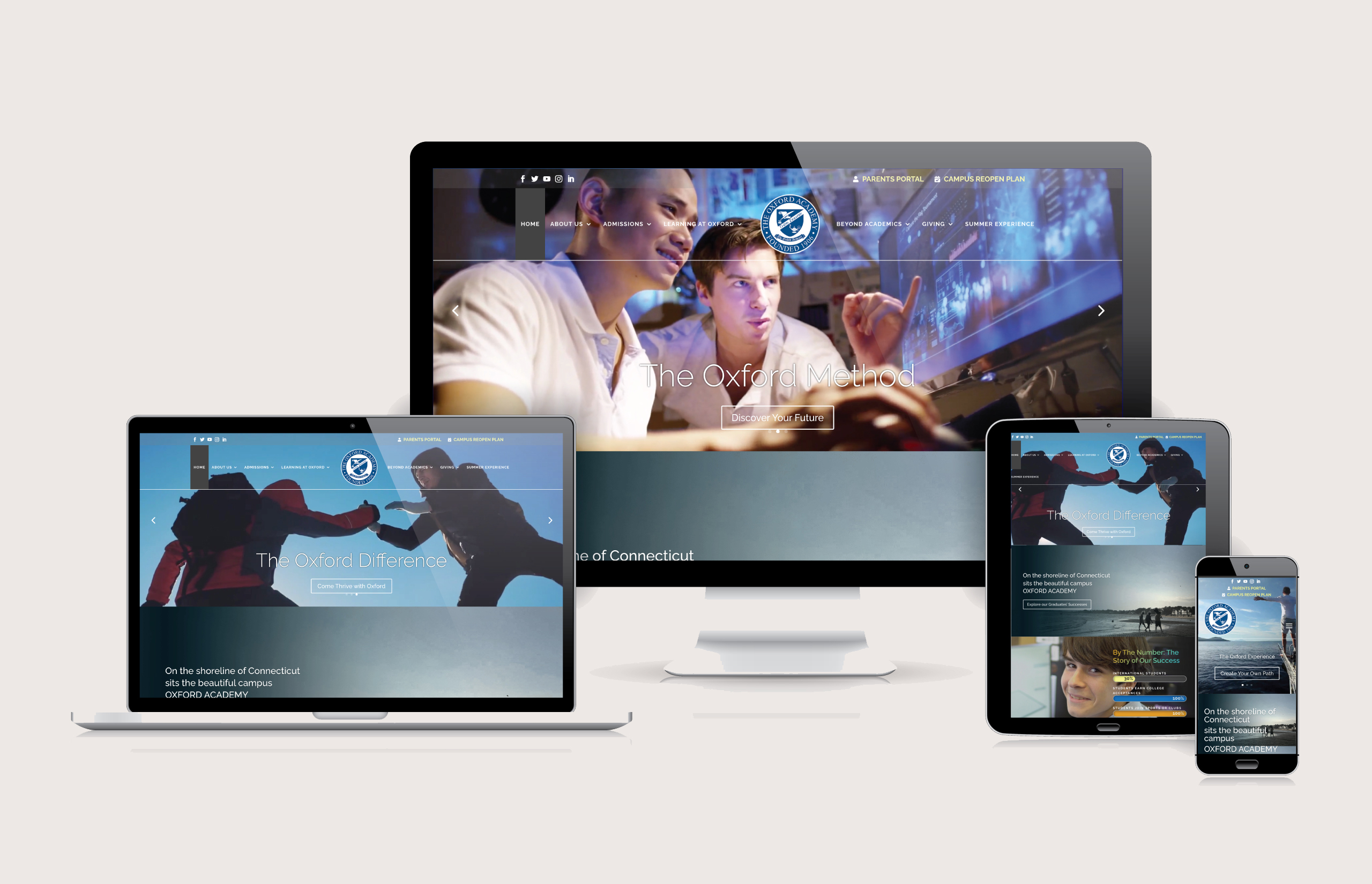 Oxford Academy - Website Layout by Ok Omni