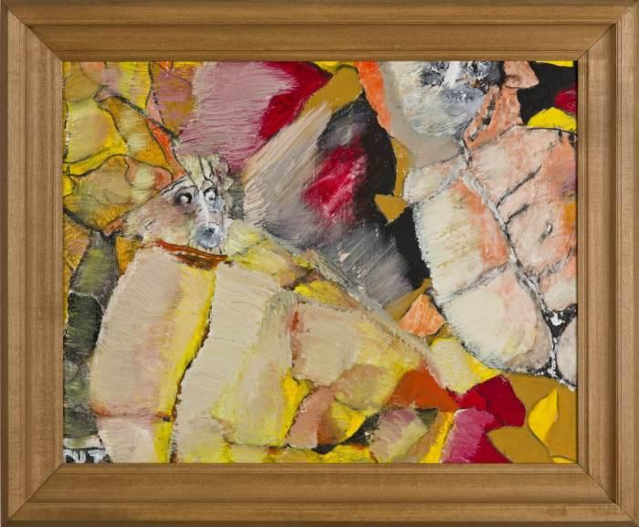 """Wojciech Tut Chechliński, """"Zaskoczenie"""", olej na płótnie, 38 x 49 cm, 2012 r, sygnowany kat. 107"""