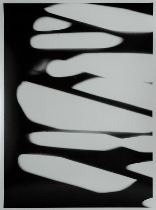 Wojciech Zamecznik, studium do plakatu Miedzynarodowego Festiwalu Muzyki Wspolczesnej Warszawska Jesien, 1962-2013, fotografia czarno biala, papier barytowy, 17x22,6 cm, wspolczesna odbitka ze skanu negatywu wykonana przez Fundacje Archeologia Fotografii w 2013 r., naklad 5na10