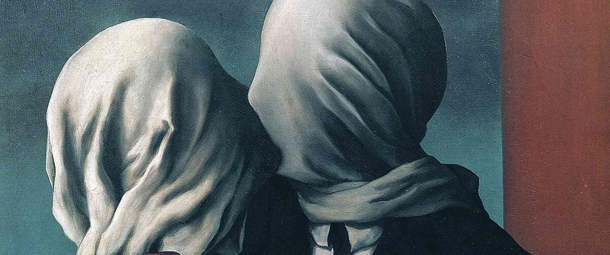 """Kochankowie niczym dementorzy - wysysają z siebie szczęście. Obraz """"The Lovers"""" René Magritte"""