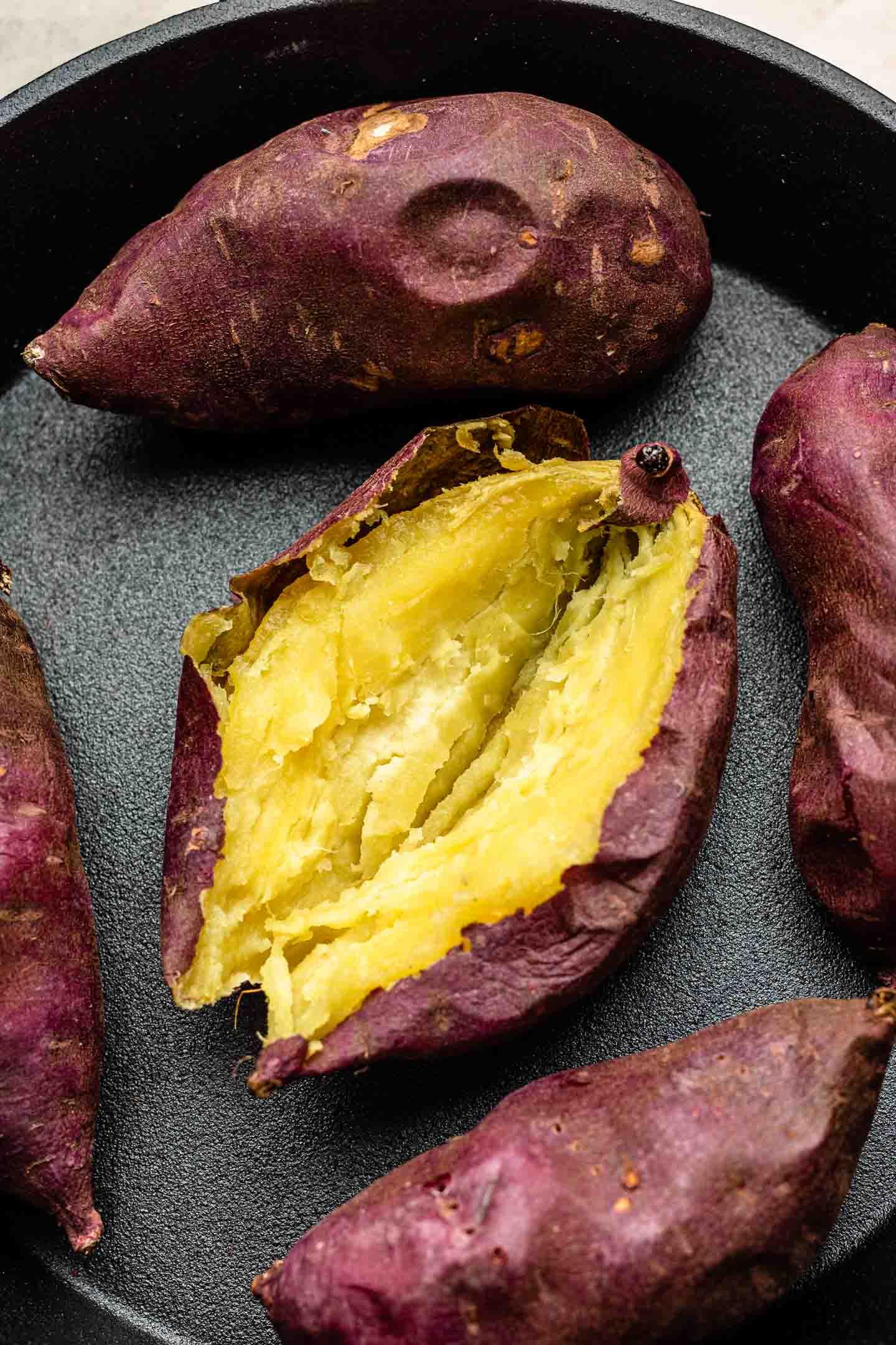 baked japanese sweet potatoes