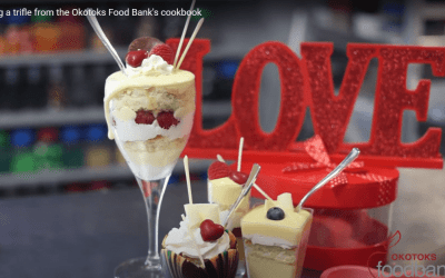 Video: Preparing a trifle from the Okotoks Foodbank's Cookbook