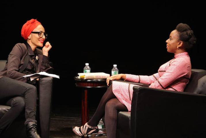 Image result for chimamanda adichie doing book reading