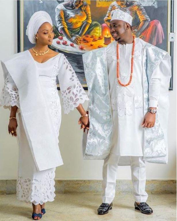 Yoruba Couple Traditional Wedding Attire Inspiration. – Okpeke Fashion, Beauty & Health Portal– Fashion blogs in Nigeria   Fashion bloggers in Nigeria   Fashion News in Nigeria   List of fashion blogs