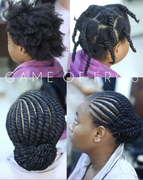 Flat Twists Hairstyle Inspiration For Natural Hair Okpeke