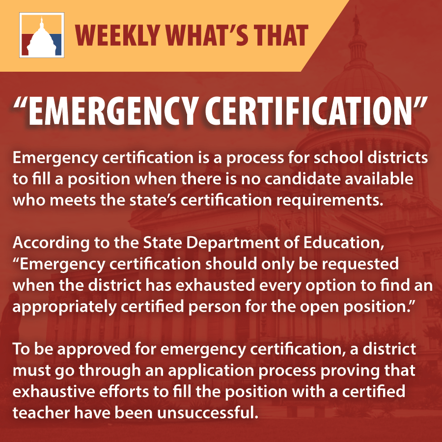 Emergency Certification Oklahoma Policy Institute