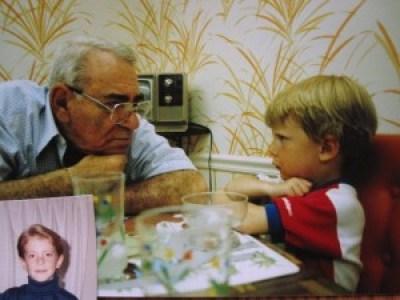 grandpa and aaron