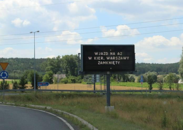 Kolejne utrudnienia na autostradowym węźle Koło