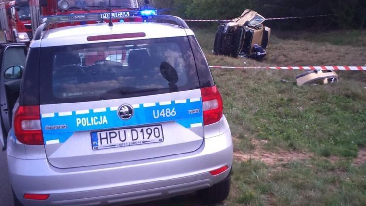 Wypadek w Plebankach. Pijany prowadził auto, w którym jechały dzieci!