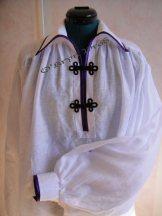 Chemise à biais violet