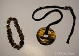 Collier et bracelet en oeil de tigre