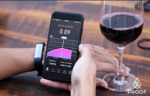 Proofアプリでアルコール濃度チェック