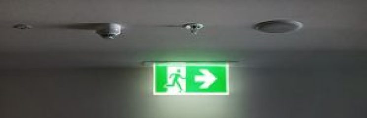 check for exit and emergency at every exit door