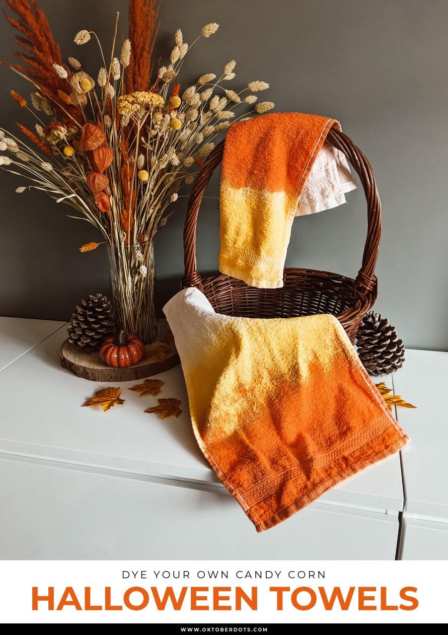 Candy Corn Halloween handdoekjes DIY