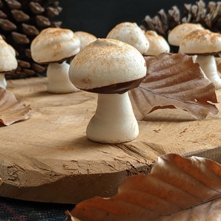 Paddenstoel meringues
