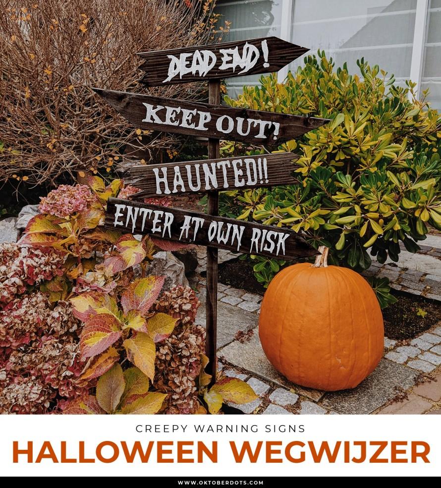 Halloween Wegwijzer DIY