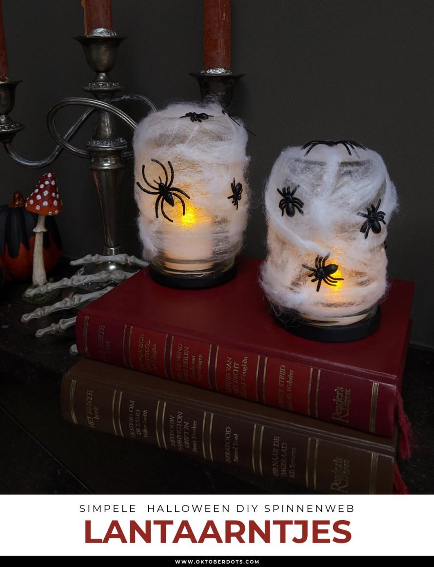 Oktoberdots Halloween Spinnenweb lantaarntjes