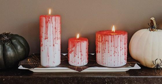 oktoberdots bloederige halloween kaarsen DIY