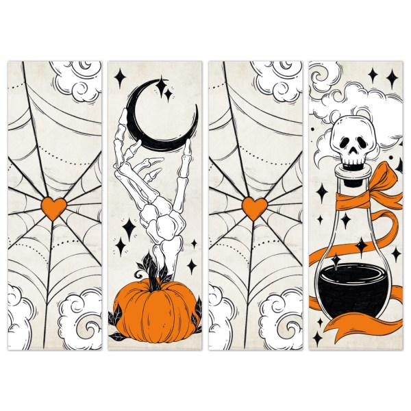 Oktoberdots Vintage Halloween Bookmarks set 1