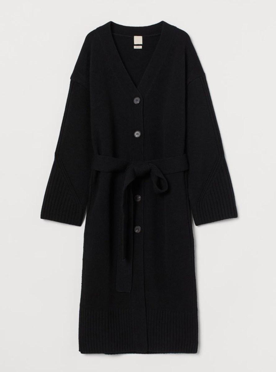 oktoberdots cosy cardigans 2020 lang zwart vest