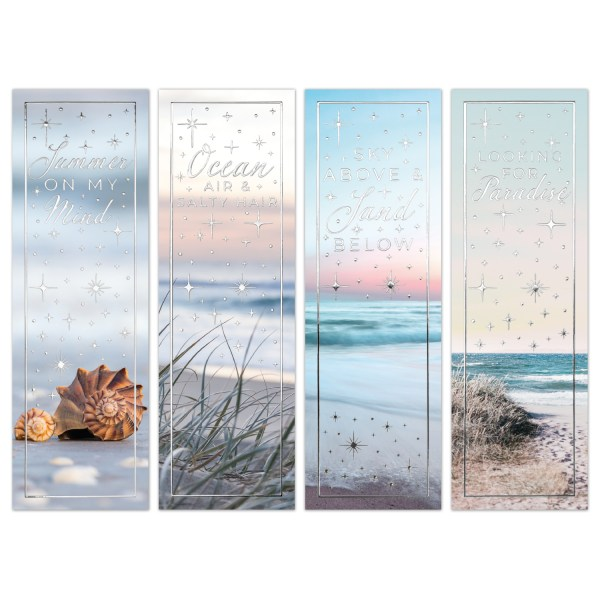 Bookmarks Summer Sea Quotes Silver