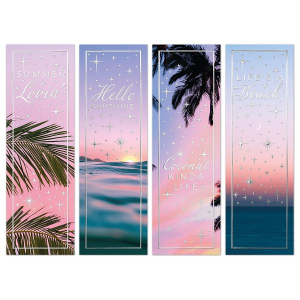 Bookmarks Summer Tropical Quotes Silver