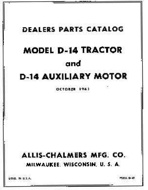 Books and Manuals : Allis Chalmers Parts, OKtractor