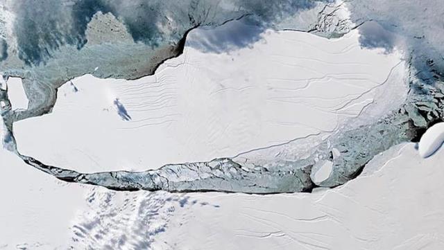 Dünyanın en büyük buz dağının 1800 kilometrekaresi 3 yılda yok oldu, okugit