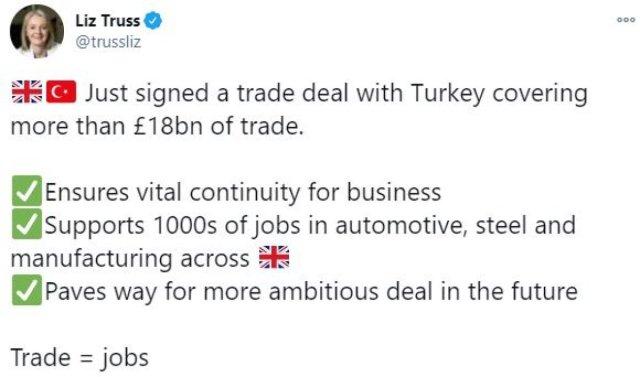 ingiliz bakan liz trusstan turkiye ile serbest ticaret paylasimi 1 9N3yuHLP - İngiliz bakan Liz Truss'tan Türkiye ile serbest ticaret paylaşımı
