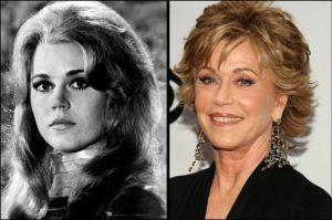 Jane Fonda 300x199 - Ünlülerin Genç ve Yaşlı Halleri