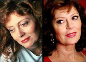 Susan Sarandon 300x216 - Ünlülerin Genç ve Yaşlı Halleri