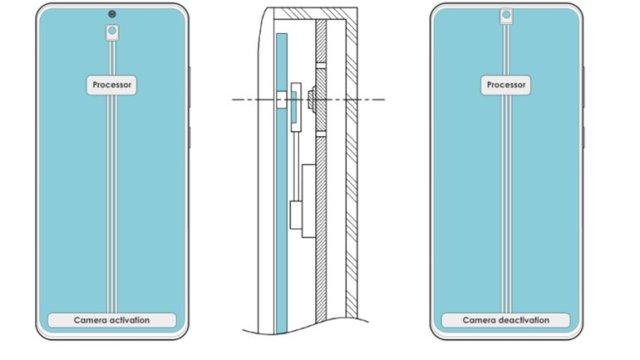 """samsungdan sira disi bir on kameraya gizleme patenti 1 tS3kYiDg - Samsung'dan, Sıra Dışı Bir """"Ön Kameraya Gizleme"""" Patenti"""