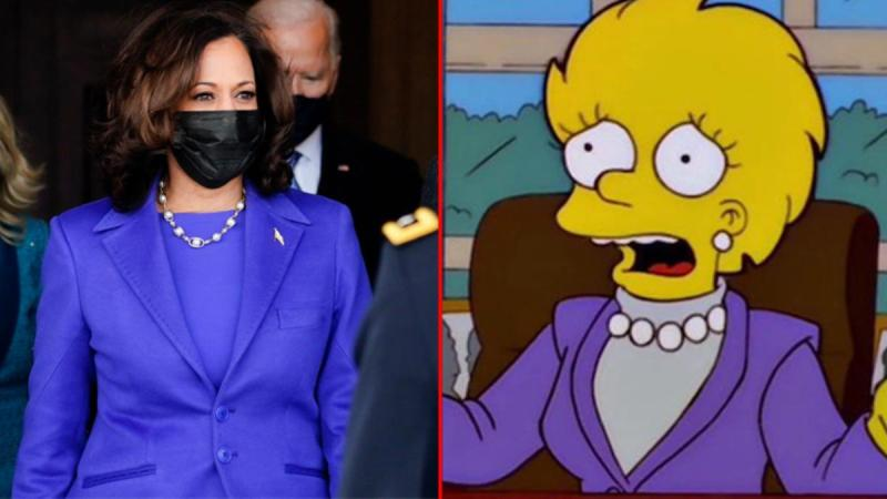 Simpsonlar yine gündemde! Kamala Harris'in yemin törenindeki kıyafetini 20 yıl önceden bildiler
