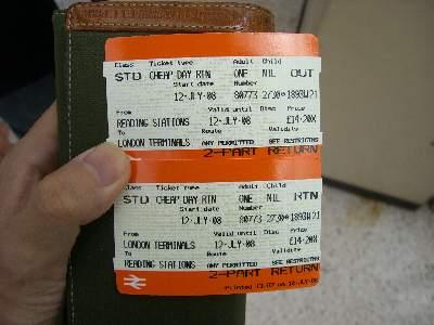 Cheap Day Return チケット