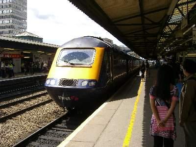 ロンドン行きの列車