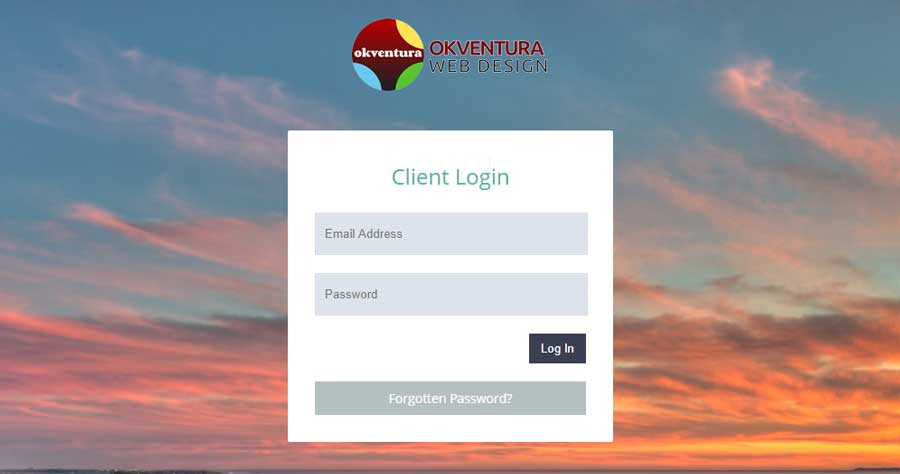 Okventura-Client-Portal-Login-Screen